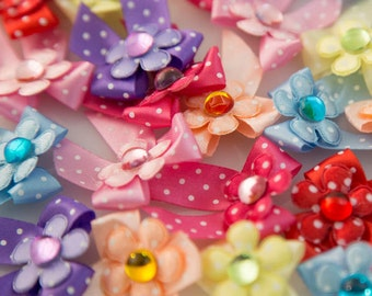 Dog's Grooming Bows - 30 Pcs. Jelly Drop Bow