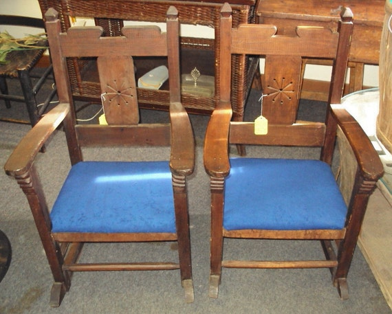 ... of handmade 1800s FLORIDA Rocking chairs Miniature or Childs Ro...