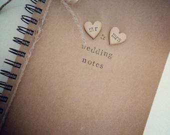 NEW Wedding planner, jotter, notebook, Personalised Wedding Notebook