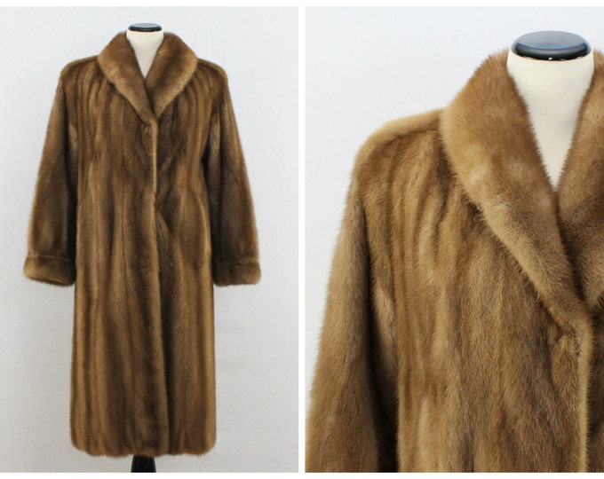 Long Mink Coat - 60s Blonde Mink Fur Coat - Full Length Vintage Fur Coat