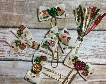 Vintage Christmas Ornaments & Bells - Set of 3 - Planner Clips / Bookmarks