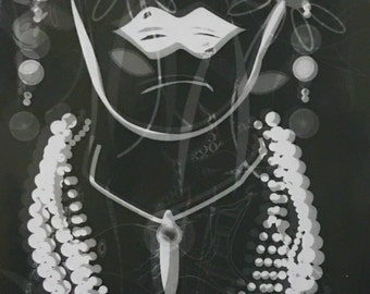 Photogram titled 'she sees with her heart'