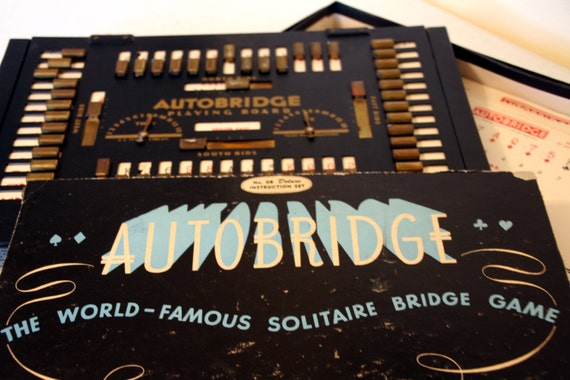 Items Similar To Auto Bridge Game Vintage Card Game
