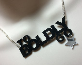 """To Boldly go""""...with a hanging star  """"Star Trek' inspired statement necklace"""