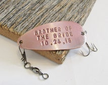 Personalized Brother of the Bride Gift for Brother Fishing Lure Brother Gifts for Stepbrother from Sister to Brother Outdoors for Sibling