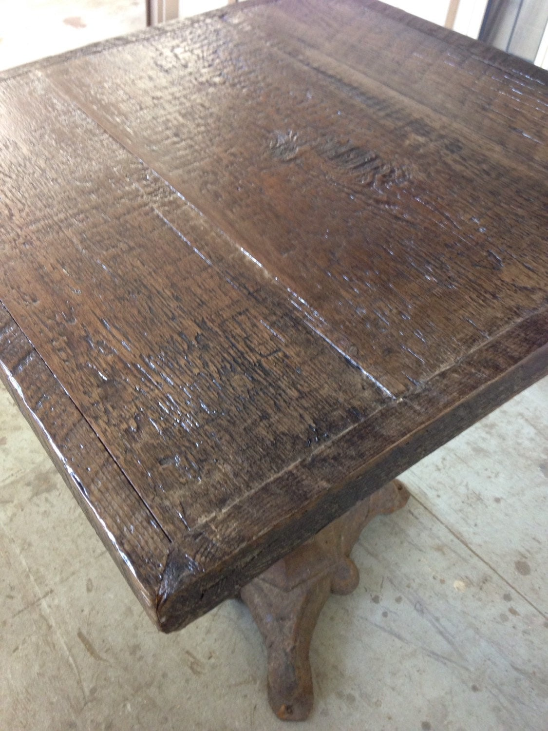 reclaimed wood dining table top restored wood by