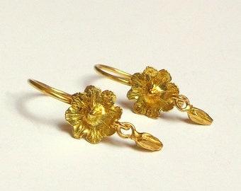 Loveliness Earrings - gold Earrings - 18k gold earrings - Seeds Collection - Free Shipping!!