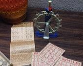 Vintage Midway Bingo, Vintage Bingo Game, Mid Century Bingo Game