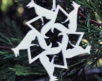 Fox Snowflake Ornament