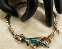 Vintage Crown Trifari  (Alfred Philippe)  Pat. Pend. Green Crystal Baguette Necklace