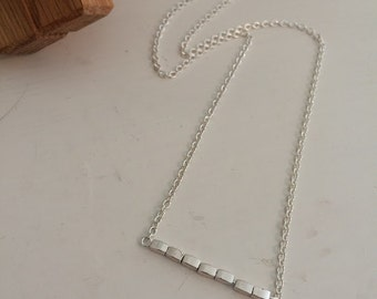 "White Willow - 18"" silver necklace"