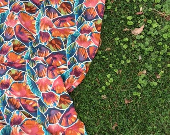 fall printed linen scarf