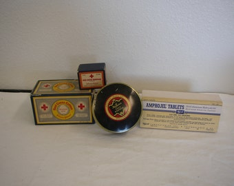 Vintage Pharmacy boxes, Redcoss, Max Factor, Wyeth Antacid