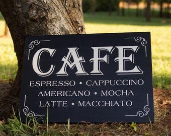 """Cafe sign (16"""" x 12"""")"""