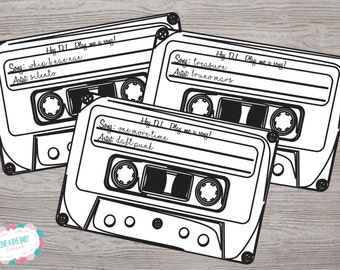 Song Request card for wedding, party, graduation. Printable. INSTANT DOWNLOAD