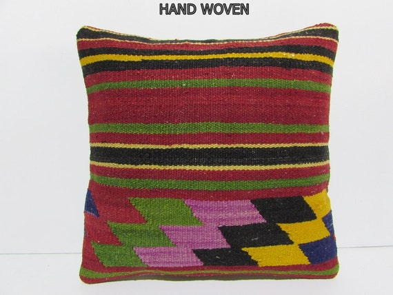 Throw Pillows In Ghana : cheap decorative pillow Handwoven Kilim Pillow Throw Pillow