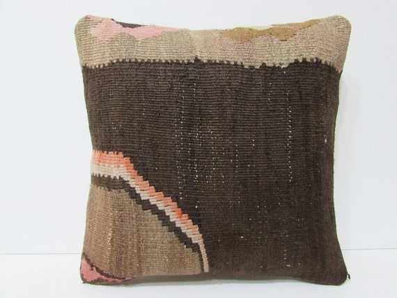 decorative pillow 18x18 brown throw pillow by DECOLICKILIMPILLOWS