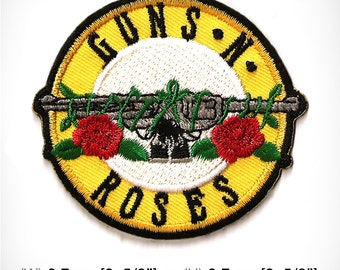 Guns N Rose Patch Embroidered Iron on 6.7 x 6.7 cm