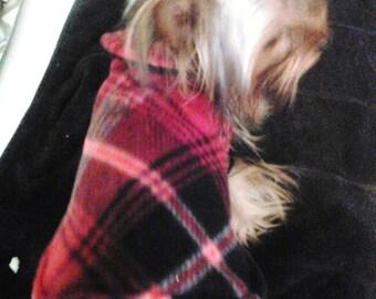 Extra Small Double winter Fleece Pet Jacket, toy breed jacket, dog jacket, pet wear, ferret clothing, kitten jacket, winter pet wear