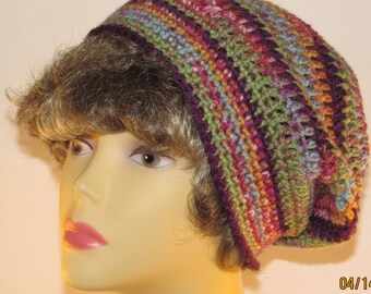 Spring Flower Slouchy Hat