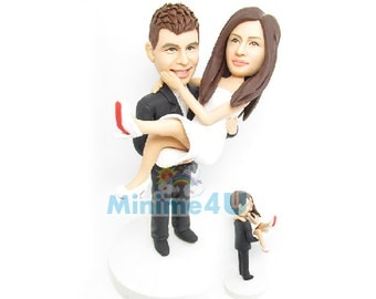 hold my baby - wedding cake topper & 3D doll  (Free Shipping Worldwide)