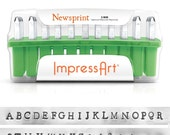 ImpressArt 3mm Newsprint Alphabet Lowercase Uppercase Number Letter Metal Stamp Set