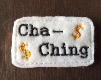 UNCUT Cha-ching feltie