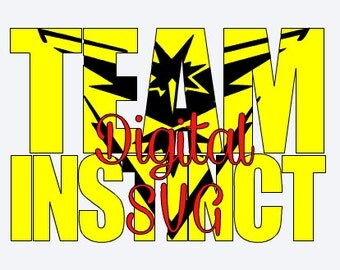 Pokemon GO team - Instinct - DIGITAL SVG file