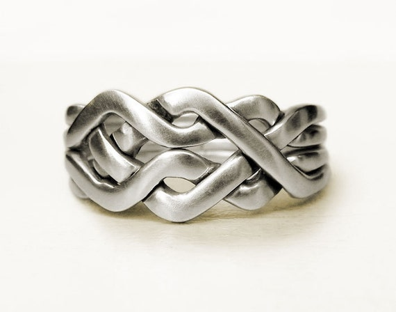 celtic unique puzzle rings by puzzleringmaker sterling
