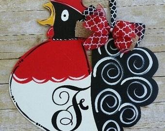 Rooster door hanger, door decoration