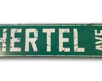 Hertel Ave Buffalo, NY wooden sign