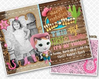 Saddle Up Cowgirl Callie Birthday Invitation Birthday Party Invite