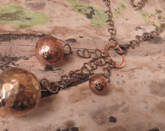 Hand Crafted OOAK Antiqued Brass Pendant Necklace Vintage Jewelry Assemblage