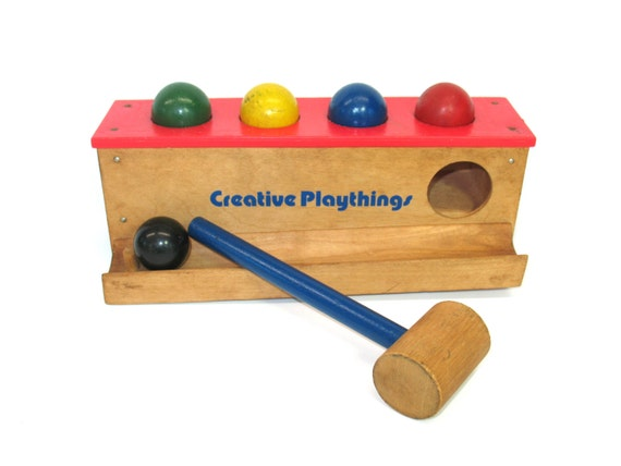 Pound A Ball Toy Toys : Creative playthings pound a ball childrens wooden game mallet