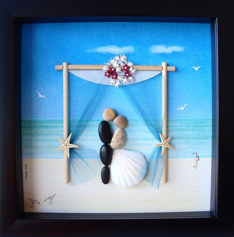 Wedding Art Gifts: Wedding Gift Pebble Art Couple's Pebble Art Custom