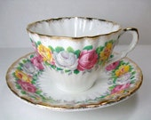 Vintage Gladstone Tea Cup & Saucer - Gladstone Rosemary Tea Cup Set - English Bone China