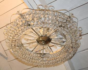 Antique Circular Crystal Chandelier Lamp