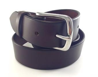 "Men's Belt- Dark Brown - 100 Year Belt - Full Grain Bridle Leather - 1.5"" - Lifetime Guarantee - Amish Made"