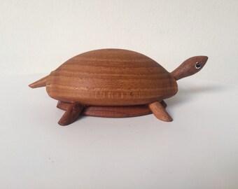 Japanese Teak Turtle Sculpture