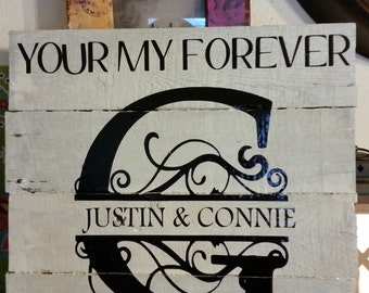 Your my Forever Monogram sign