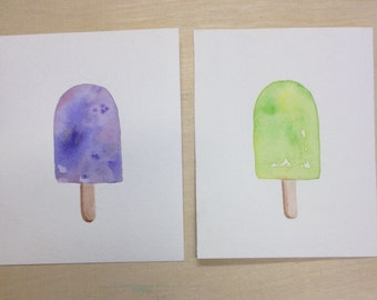 Popsicle Watercolor Paintings