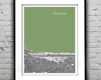 Miyajima Japan Skyline Poster Art Print Itsukushima Version 2