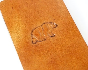 Leather iPhone SE Case / iPhone 5s Case - Bear