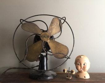 Art Deco Mini Electric Fan Table Fan Working