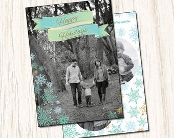 Custom Holiday Christmas Card (Digital File)