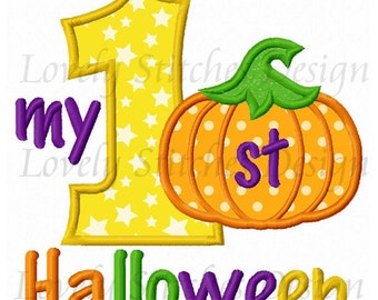 My 1st Halloween Applique Machine Embroidery Design NO:0459