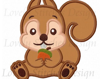 Squirrel Applique Machine Embroidery Design NO:0469