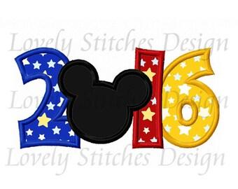 2016 With Mickey Applique Machine Embroidery Design NO:0481