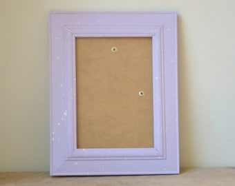 Pastel Lilac Speckled Photo Frame 5x7