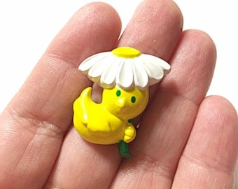 Duck with flower umbrella ring